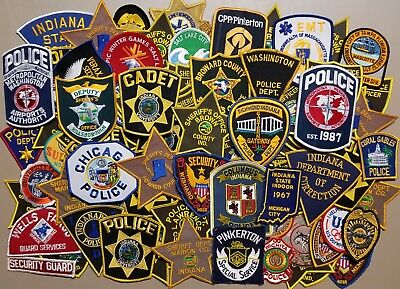 Mixed Lot of 100 + Police Sheriff Corrections EMT Misc. Vintage USA Patches