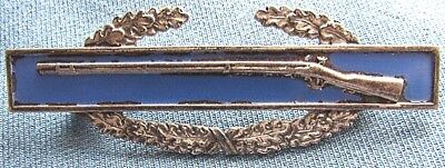 WWII US Army sterling, full size Combat Infantryman Badge with sterling clutches