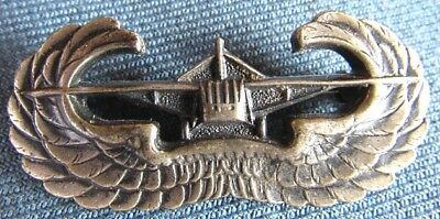 WWII US Army sterling Glider qualification badge