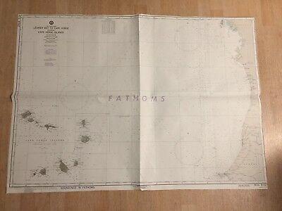 Nautical Chart Levrier Bay To Cape Verde Africa West Coast 1943 Map #4525