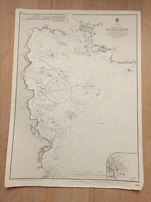 Nautical Chart Approaches To Pointe A Pitre West Indies Guadeloupe Map 4554