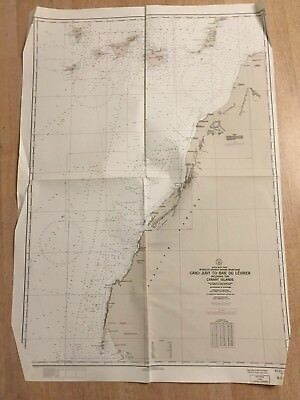 Nautical Chart Cabo Juby To Baie Du Levrier Africa West Coast 1944 Map #4564