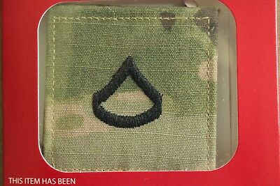 Us Army Gi Multicam Ocp E-3 Pfc Hook Back Camouflage Camo Uniform Rank Patch
