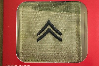 Us Army Gi Multicam Ocp E-4 Cpl Hook Back Camouflage Camo Uniform Rank Patch