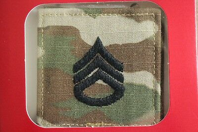 Us Army Gi Multicam Ocp E-6 Ssg Hook Back Camouflage Camo Uniform Rank Patch