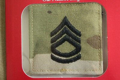 Us Army Gi Multicam Ocp E-7 Sfc Hook Back Camouflage Camo Uniform Rank Patch