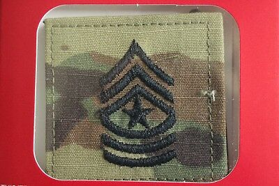 Us Army Gi Multicam Ocp E-9 Sgm Hook Back Camouflage Camo Uniform Rank Patch