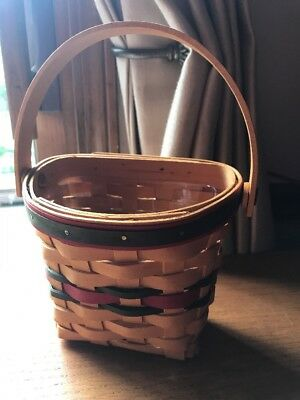 Longaberger 1998 Holiday Small Glad Tidings Basket w/ protector