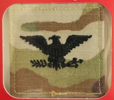 Us Army Gi Multicam Ocp O-6 Col Hook Back Camouflage Camo Uniform Rank Patch