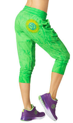 Zumba® Forever Wild Cropped Harem Dance Pants - Lime Choose Size - NWT MSRP $42