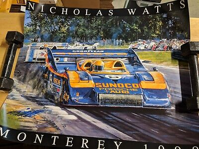 MONTEREY 1999 RACING PRINT - Nicholas Watts Signed Auto Racing Poster
