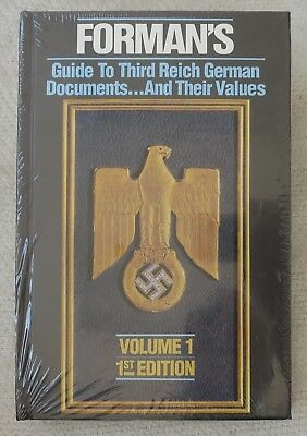 BENDER WW2 Reference BOOK FORMAN'S GUIDE to 3rd REICH GERMAN DOCUMENTS Vol.1