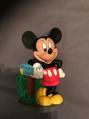 Disney Mickey Mouse Mailbox Piggy Bank Vintage Original Stopper