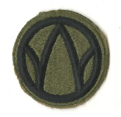 Wwii Original 89Th Infantry Division White Back Patch France Czechoslovakia