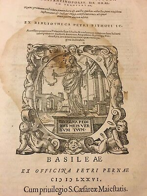 1576 Imperial New Constitutions Of Justinian