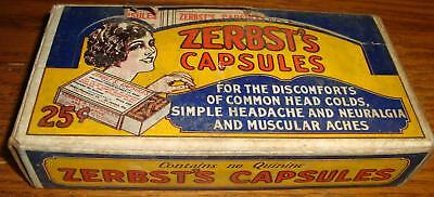 1930's  Zerbt's Tablets  NOS in Full Display  Box  Drug Store Pharmacy