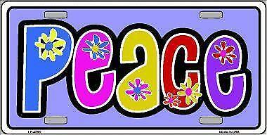 "Peace Novelty 6"" x 12"" Metal License Plate Sign"