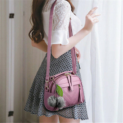 Women Faux Leather Messenger Bag Shoulder Bags Tote Handbag Crossbody Purse LG
