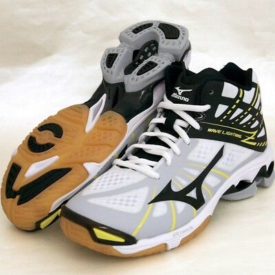 ae187e80744cb NEW MIZUNO WAVE Lightning Z Mid Volleyball Shoes NIB White/Black Size 10.5