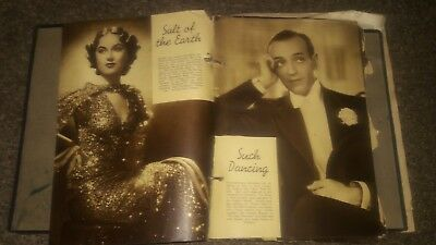 Vintage Early 1900s Scrapbook Pages Moviestar Cutouts