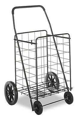 Deluxe Utility Cart Heavy-Duty Easy Glide Wheels Durable Black New