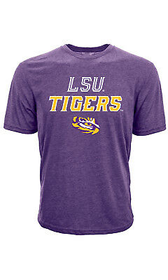 College T-Shirt LSU Tigers Slant Route NCAA Football Basketball Levelwear