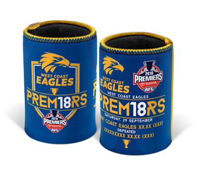 West Coast Eagles AFL Premiers 2018 Game Day Can Cooler Stubby Holder