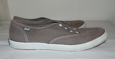 7d08c605956 Keds Womens Gray canvas sneaker tennis shoes NO STRINGS Size 9.5 Some fading