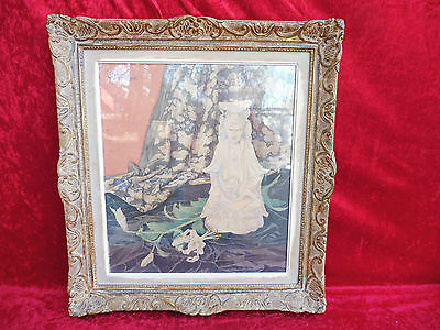 Pretty, Old Picture__Aqaurell__ Still Life with Buddah Figure Signed