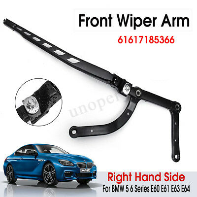 For BMW 5 6 Series E60 E61 E63 E64 61617185366 Front Right Wiper Arm Metal LHD