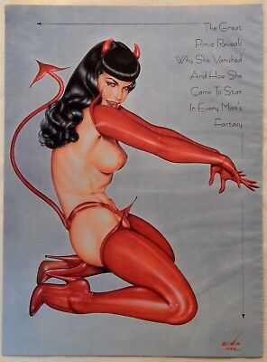 """Olivia de Berardinis Pin Up Art Page & """"The Real Bettie Page"""" Article O114"""