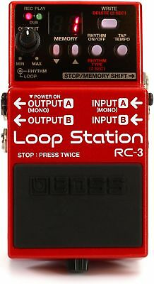 Boss RC-3 Loop Station Compact Phrase Recorder Ped