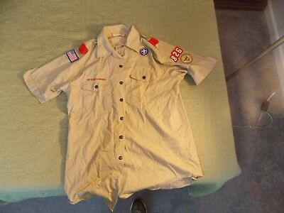 BSA Boy Scouts of America Official Shirt Men's Large short sleeves patch