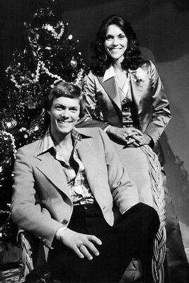 The Carpenters Karen And Richard By Christmas Tree Large Poster