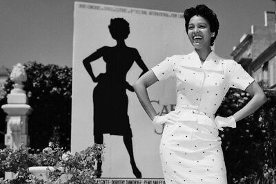 Carmen Jones Dorothy Dandridge Posing By Poster Large Poster