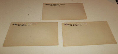 3 Vtg 1915 Panama Pacific International Exposition PPIE Envelopes - Unused