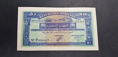syria Syrie 50 piastres 1942 One of a Kind & much rare than Lebanon