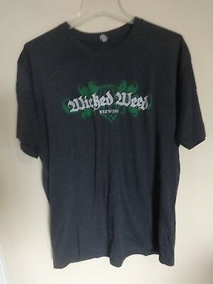 Vintage Wicked Weed Brewery Co. Asheville NC Beer Pullover T-Shirt Men XL