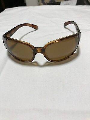 Ray-Ban Womens Light Brown 'Tortoise' Polarized Large Sunglasses RB4068