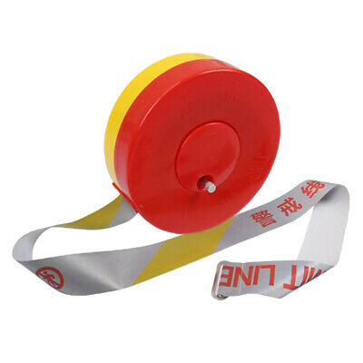 60m x Reusable Barricade Tape Police Yellow Safety Caution Warning Line