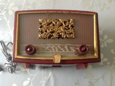 Ancienne  RADIO decor femme musicienne