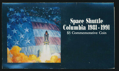 Marshall Islands: 1991 US$5 Space Shuttle Columbia Commemorative Coin - Scarce