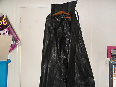 long black cape with stand up collar