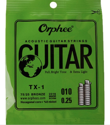 Acoustic Guitar Strings Extra Light + 5 Free picks + Free delivery