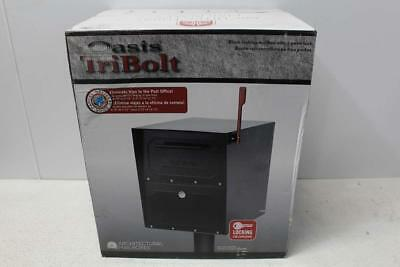 Architectural Mailboxes Oasis Locking Post Mount Mailbox 620020B-10