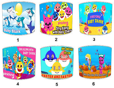 Baby Shark Dance Song Lampshades Ideal To Match Childrens Wall Decals & Stickers