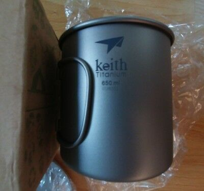 Keith TI 3208 Titan-Tasse 650ml, große Version => Nalgene-Kompatibel