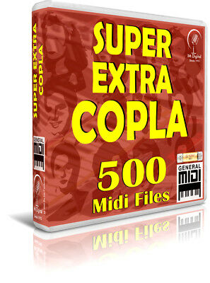 SUPER EXTRA COPLA. 500 Midi Files. Pendrive USB OTG. Teclados, PC, Móvil. MIDIS