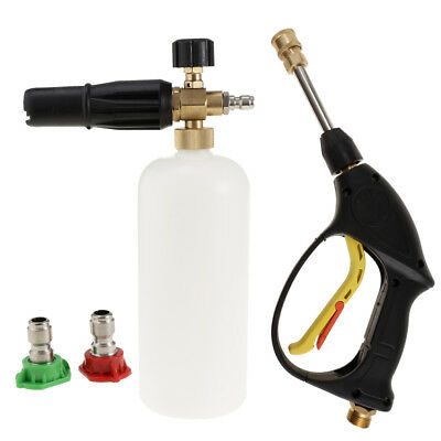 Car Cleaning Foam Lance Cannon Soap Bottle Jet Spray Pressure Washer Sprayer