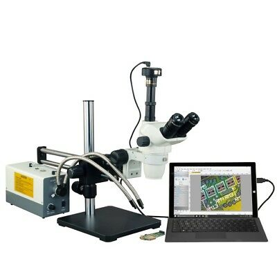2X-270X Stereo Microscope+150W Cold Light+10X30X Eyepieces+Boom Stand+9M Camera